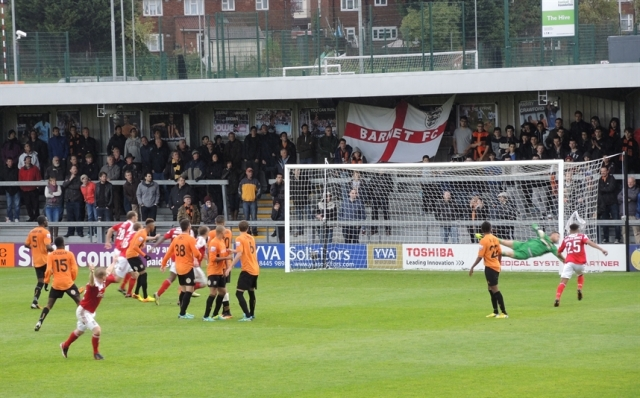Barnet v Wrexham. The Hive 28