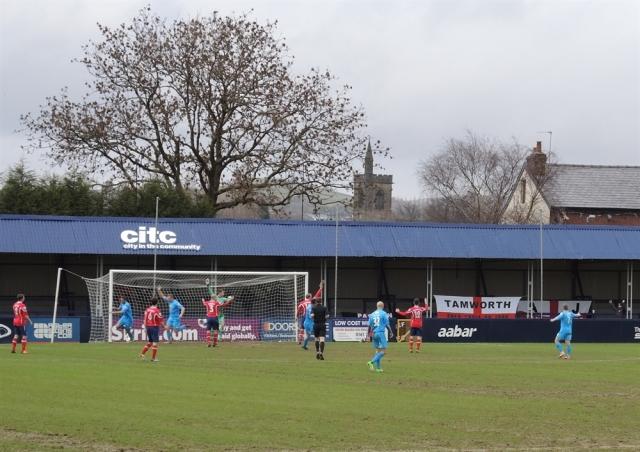 Hyde. Ewan Fields 21. 1-0 to Tamworth