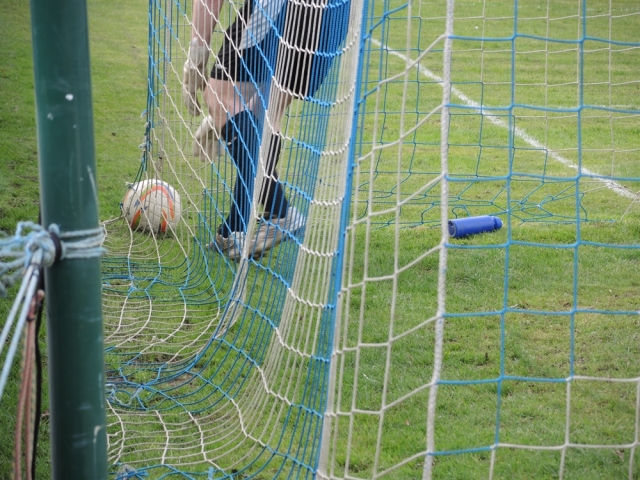 Chertsey v Dunstable 20. Back of the net for 3-0.