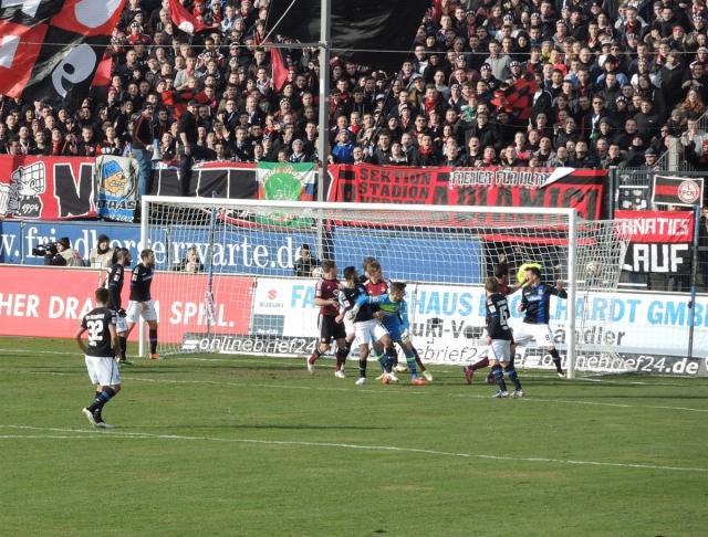 FSV Frankfurt 50. 1-1 at the near post
