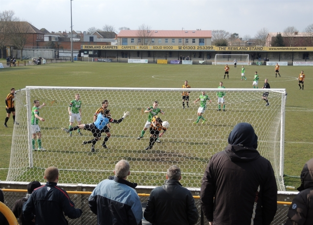 Folkestone Invicta v Guernsey 29. Somehow not a goal