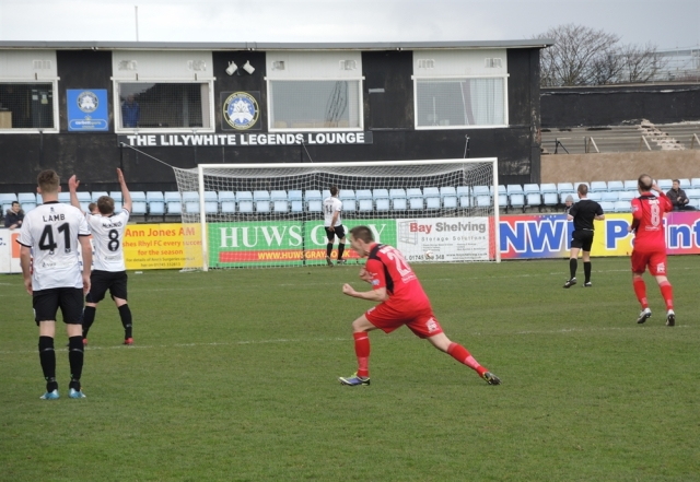 Rhyl 28. 2-0 to Connah's Quay